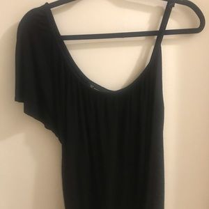 INC asymmetrical black top